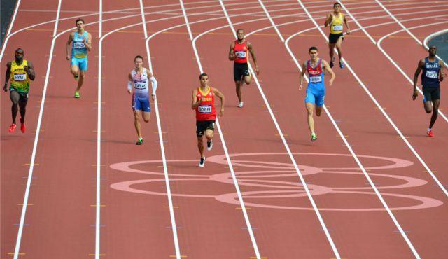 London 2012 400m Heats