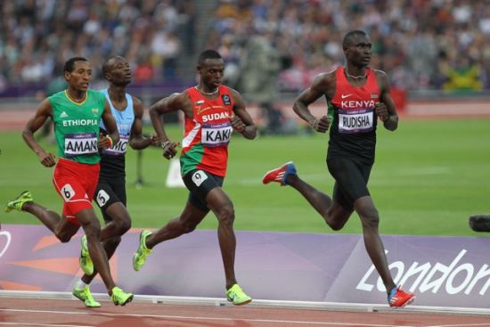800 meters David Rudisha, Kaki, Aman at London 2012 Olympics