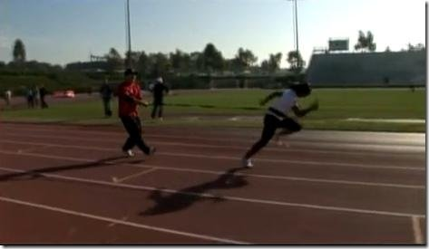 Veronica Campbell-Brown training with Tyson Gay  H DRILLS