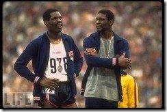 Wayne Collett Vince Matthews 1972 400 meter Olympic ceremony 1