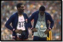 Wayne Collett Vince Matthews 1972 400 meter Olympic ceremony 3