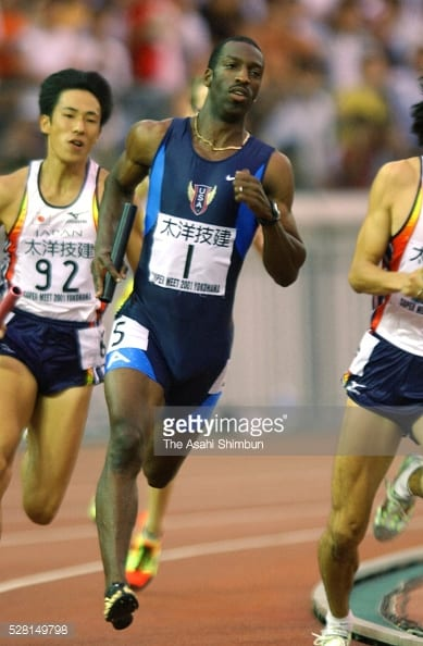 Michael Johnson 2001 Swedish Relay