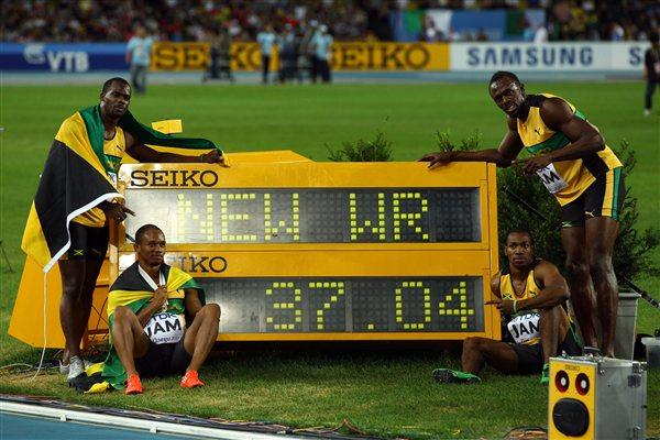 2011 WC MEN'S 4X100M RELAY - FINAL - 37.04 WORLD RECORD FOR JAMAICA