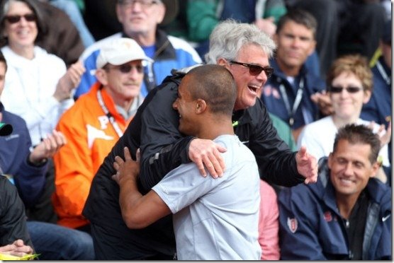 Ashton Eaton Harry Marra Hug in 2012 Olympics Trials