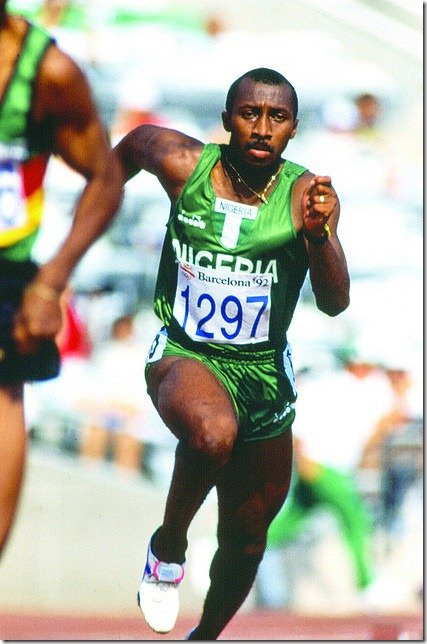 Innocent Egbunike, 400m sprinter and Coach