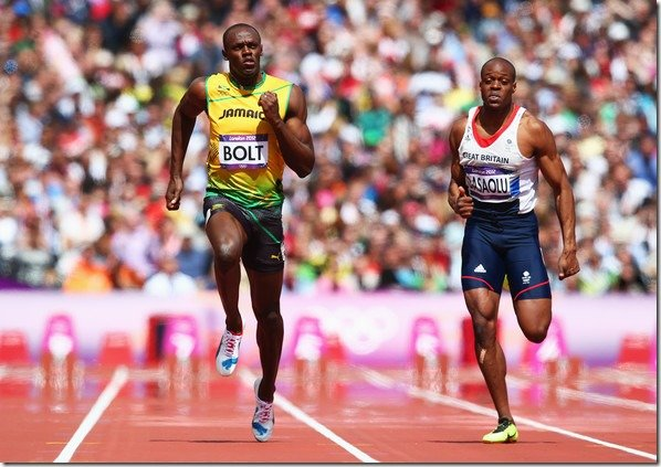 Usain Bolt James Dasaolu Olympics