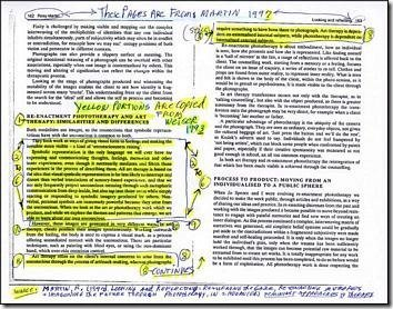 photocopied journal using sharpie highlighter
