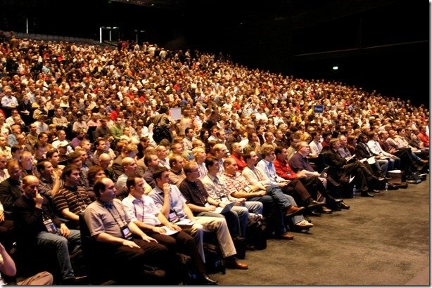 large audience for a conference