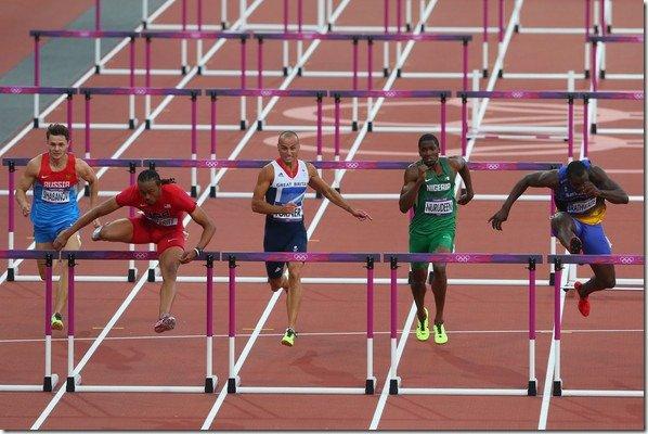 Aries Merritt Olympics Day 12 Athletics