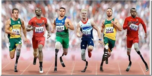 London 100m Paralympics sprinters
