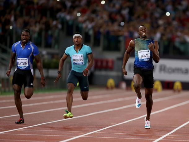 Rome Golden Gala Justin Gatlin Usain Bolt Mike Rodgers 610