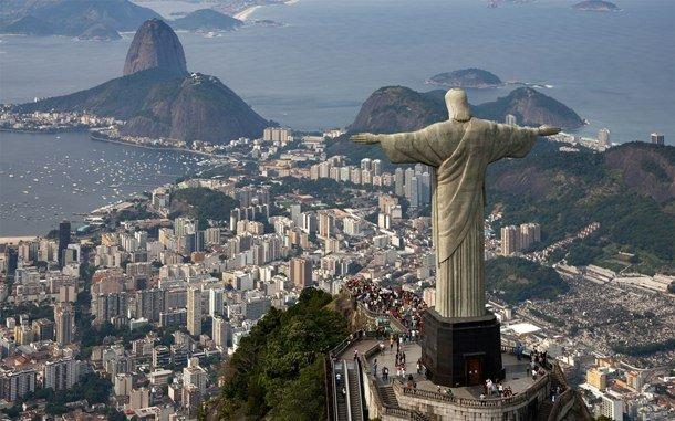 Cristo Redentor Christ the Redeemer Rio de Janeiro on the summit of Mount Corcovado