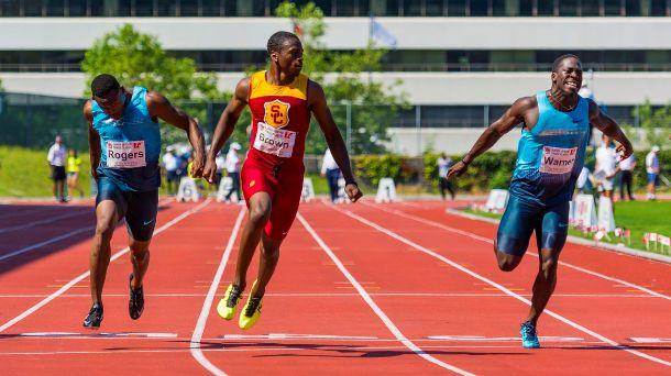 Harry Jerome 2013 100 meters Aaron Brown vs Justyn Warner