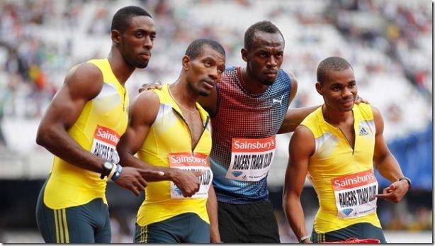 london anniversary games 2013 Jamaica 4x100m relay
