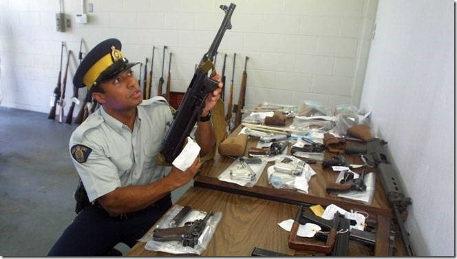 RCMP with guns
