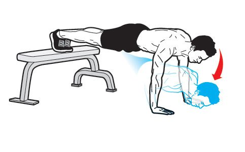 How much weight do you lift with decline push-ups?
