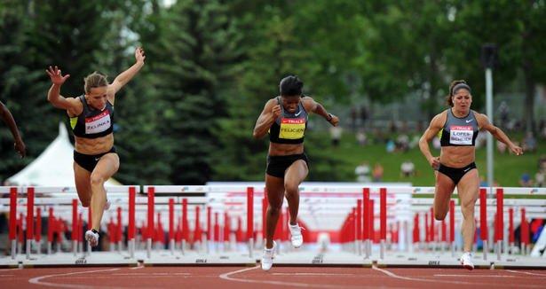 Jessica Zelinka 100-metre hurdles at the Canadian trials