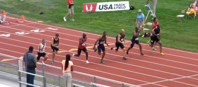 Mens 50-54 100m - USATF Masters Outdoor Championships 2013