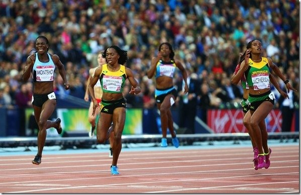 Amantle Montsho Novolene Williams-Mills  Stephanie McPherson Commonwealth Games