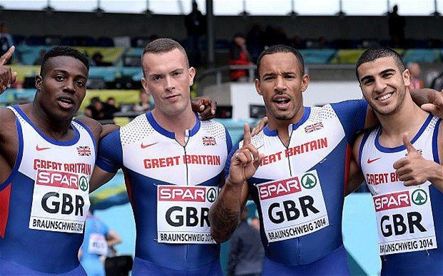Team GB 4x100m relay 2014 European Championships