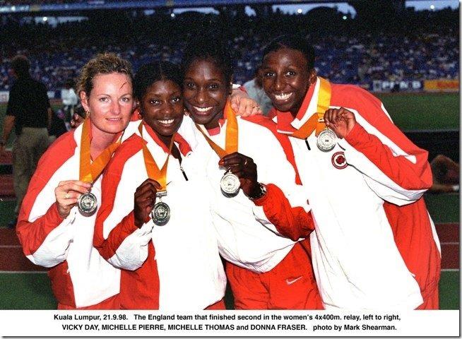 1998 4x400 Commonwealth Games Team England