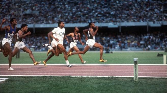 Jim Hines Mexico 1968 Olympics