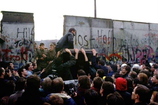 Berlin Wall Going Down 1989