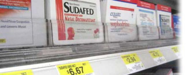 Sudafed with pseudoephedrine hydrochloride is now on the Prohibited List.