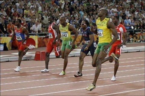 Usain Bolt Asafa Powell Beijing 2008 5