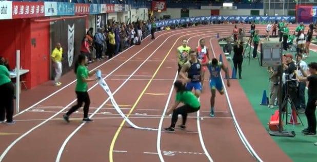 Boys 400 Championships FINISH LINE COLLISION