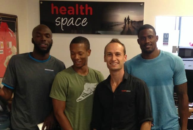 LaShawn Merritt, Joel Brown, Nick Miller, David Oliver