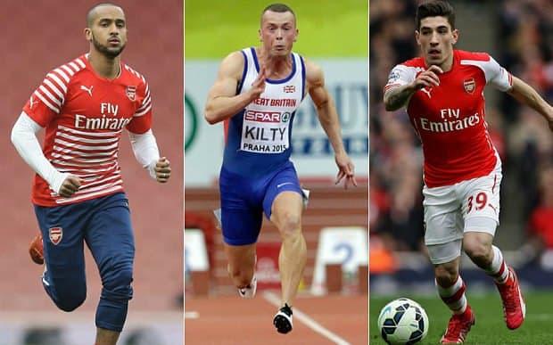 Hector Bellerin 40m times vs Usain Bolt