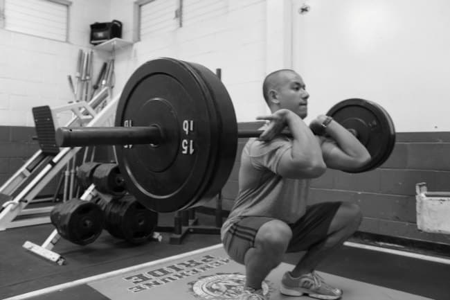 front-squat example