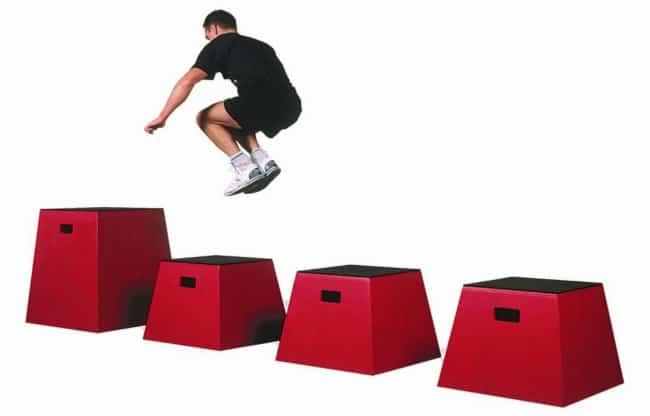 multiple box jumps plyometics