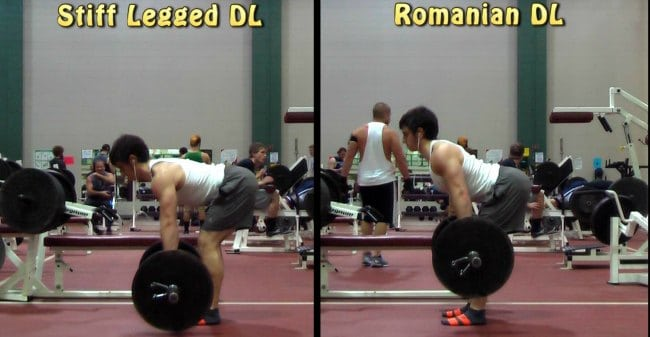 Romanian or stiff-legged (not straight-legged!) dead lift