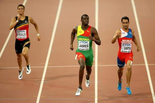 2015 WC 400m Kirani James Luguelin Santos Kevin Borlee