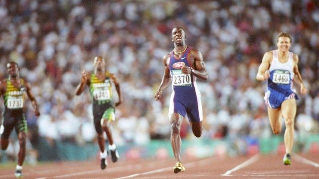 Michael Johnson Roger Black Atlanta 1996