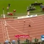Reverse 400 meters running Clockwise (not counter-clockwise)