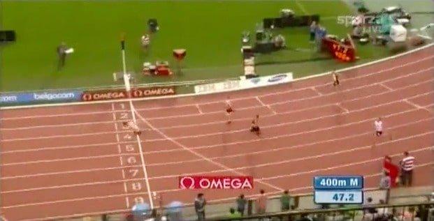 Reverse 400 meters running Clockwise, not counter-clockwise