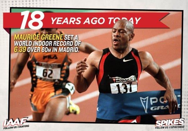 Mo Greene 6.39 60m world record