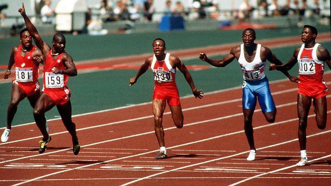Seoul 1988 100m finish