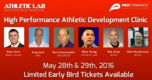High Performance Athletic Development Conference May 28-29 2016