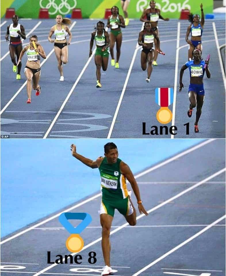 Lane 1 Lane 8 Any Questions