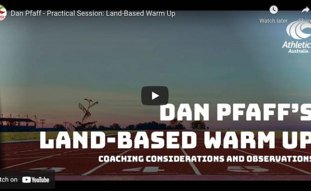 Dan Pfaff Warm up Athletics Australia Conference