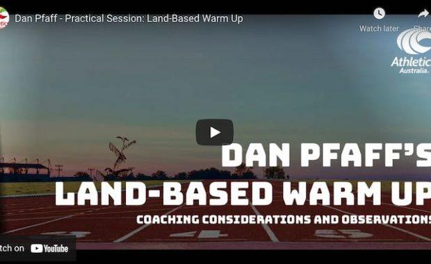 Dan Pfaff Warm up Athletics Australia Conference