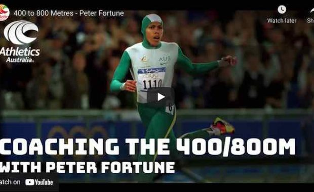 Peter Fortune on 400m, 800m training and Cathy Freeman